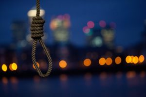 noose, Suicide, Hanging, Rope, Cities, Buildings, Skyscrapers, Mood, Night, Lights, Dark