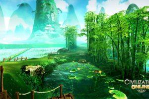 civilization, Online, Empire, Building, Mmo, Rpg, Fantasy, Strategy, Adventure, 1civilo, History, Detail, Sci fi, Artwork, Jungle, Bamboo, Scenic, Landscape