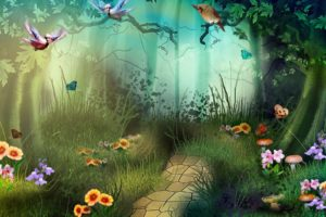artwork, Fantasy, Magical, Art, Forest, Tree, Landscape, Nature, Butterfly, Butterflies