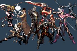 iron, Man, Spider man, Wolverine, Superheroes, Weapons, Iron, Fist, Black, Widow, Bodysuits, Artwork, Marvel, Comics, Hawkeye, Ms, , Marvel, Swords, Bow,  weapon , Red, She, Hulk, Doctor, Strange