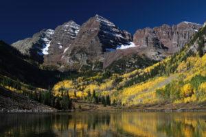 mountain, Lake, Trees, Landscape, Nature, Rocks, Colorado, Usa, Autumn