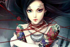 fantasy, Original, Art, Artistic, Artwork, Tattoo, Girls, Girl