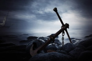 anchor, Fantasy, Ocean, Sea, Dark, Ship, Boat, Storm, Beaches