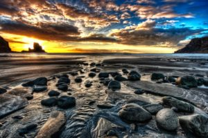 beach, Sunset, Sunrise, Beach, Rock, Stone, Shore, Coast, Sky, Clouds, Color, Ocean, Sea
