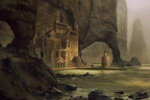 fantasy, Artwork, Art, Landscape, Nature, Castle, City, Cities
