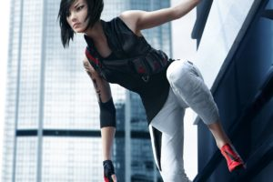 mirrors, Edge, Catalyst, Action, Adventure, Platform, Sci fi, Futuristic, City, Cities, Fighting, 1mecat, Warrior, Girl, Artwork