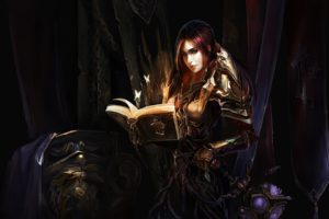 warrior, Girl, World, Of, Warcraft, Armor, Wow, Chenbo, Book